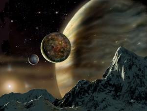 Sfondi desktop HD fantasy paesaggio lunare