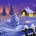 Sfondi desktop HD Natale - paesaggio nella neve