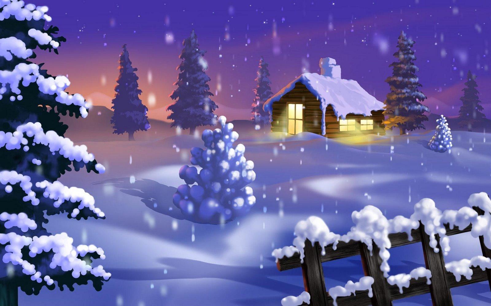 Immagini Natale Desktop.Sfondi Desktop Hd Natale Paesaggio Nella Neve Sfondi Hd
