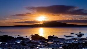Sfondi desktop HD paesaggi - tramonto al mare