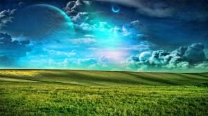 Sfondi desktop paesaggi HD - prati e cielo