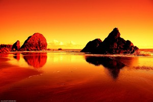 Sfondi-desktop-paesaggi-HD-tramonto-rosso