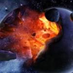 Sfondi HD spazio - impatto di meteorite