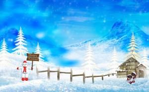 Sfondi desktop HD Natale 2013 - paesaggio innevato