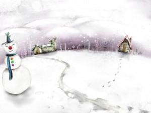 Sfondi desktop HD Natale 2013 - pupazzo di neve