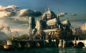 Sfondi desktop HD fantasy - chiesa