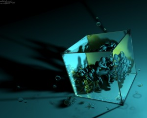 Sfondi deskto HD in 3D - cubo umano