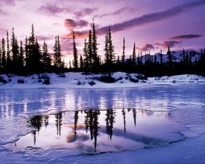 Sfondi desktop HD neve - lago ghiacciato