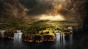 Sfondi desktop fantasy HD - cascate mistiche