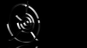 Sfondi desktop HD astratti neri - ruota