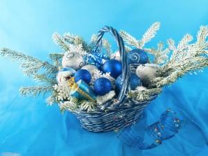 Sfondi desktop Natale per pc - cesto decorato di natale
