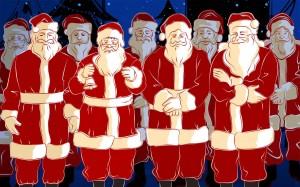 Sfondi Natale HD desktop - babbi natale