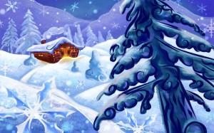 Sfondi Natale HD desktop - neve