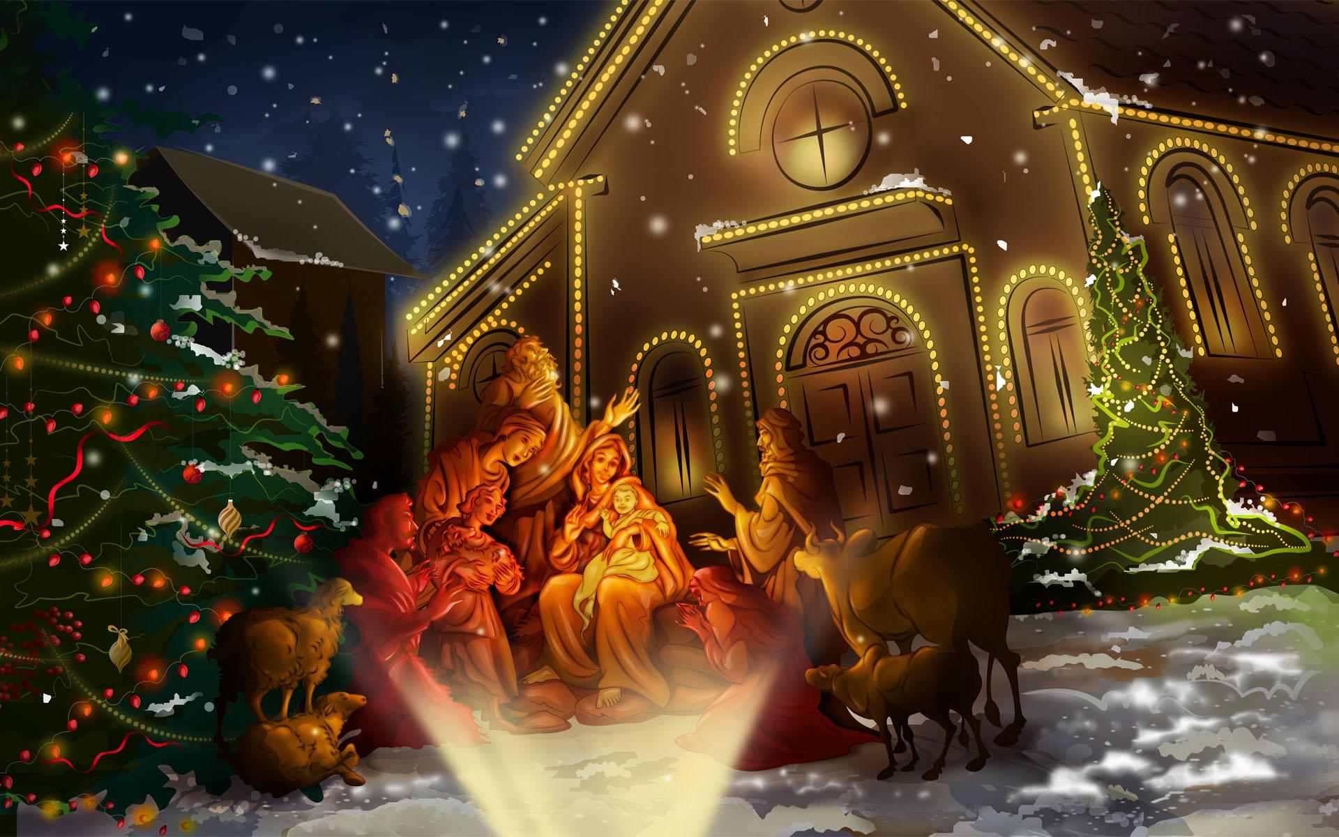 Immagini Desktop Natale Animate.Sfondi Natale Hd Desktop Presepio Sfondi Hd Gratis
