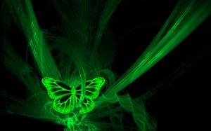 Sfondi 3D per desktop - immagini farfalla digitale