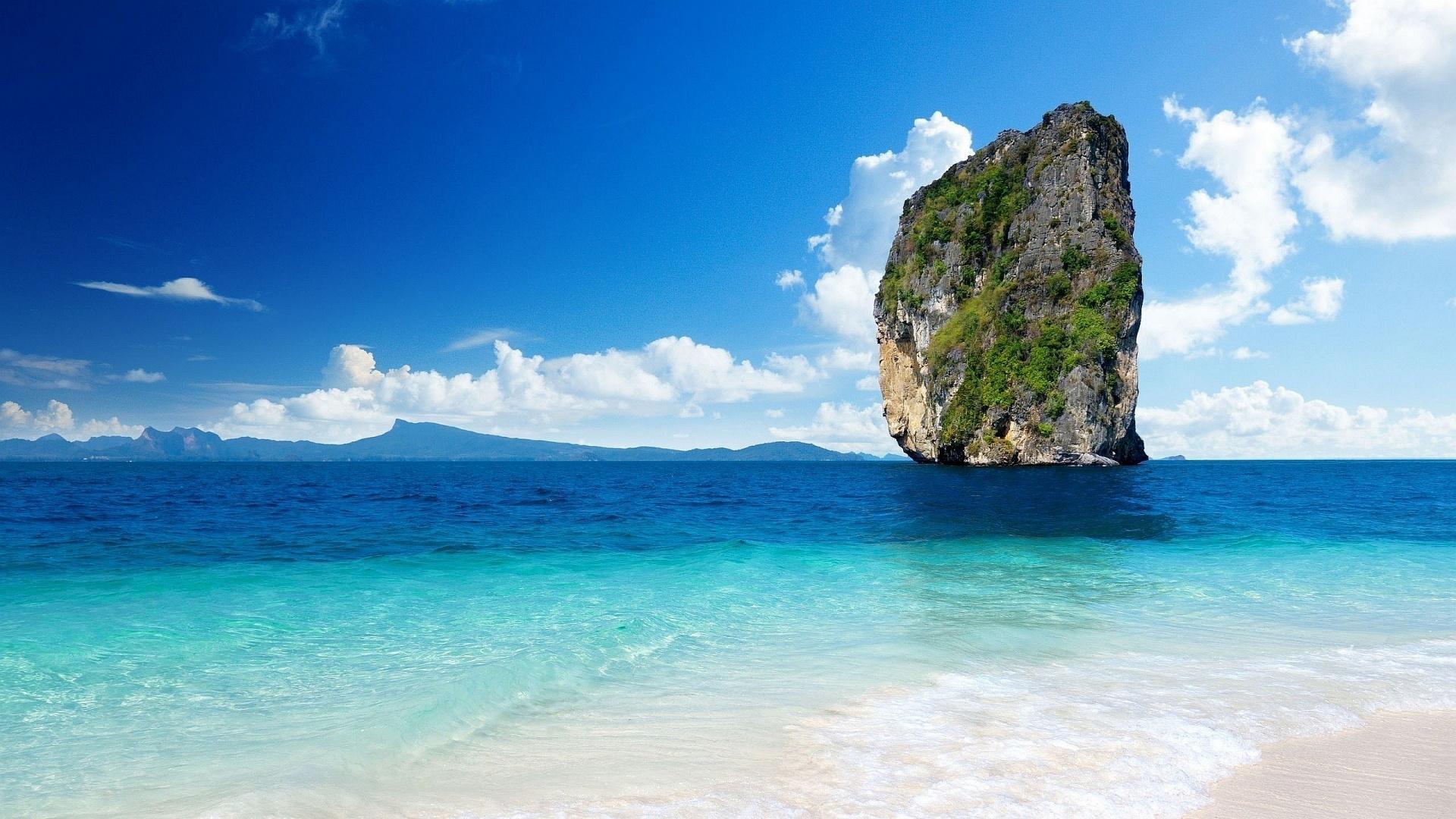 Sfondi mare paesaggi hd scoglio sfondi hd gratis for Foto full hd per desktop
