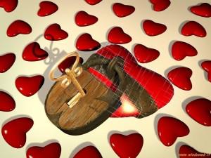 Sfondi san valentino per desktop - lucchetto