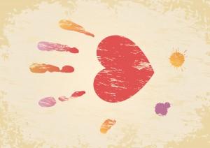 Sfondi San Valentino - mano a cuore HD