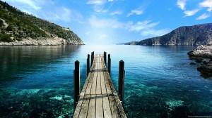 Sfondi paesaggi estivi HD - lago di montagna