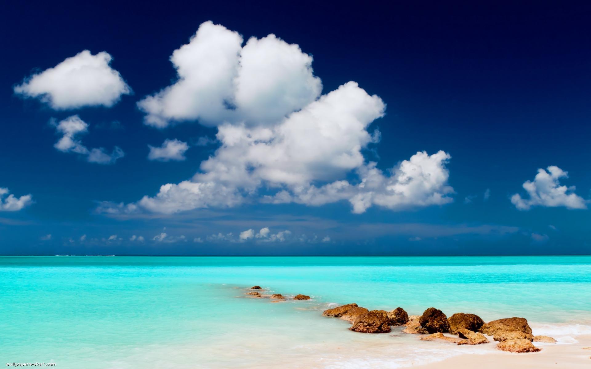 Sfondi Hd Mare Blu Per Desktop Caraibi Sfondi Hd Gratis