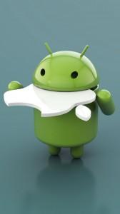 Sfondi Samsung Galaxy S3 HD - android mangia apple
