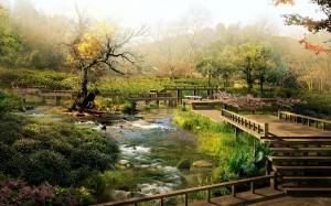 Sfondi HD paesaggi per desktop - giardino giapponese