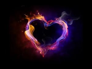 Sfondo cuore infuocato - amore