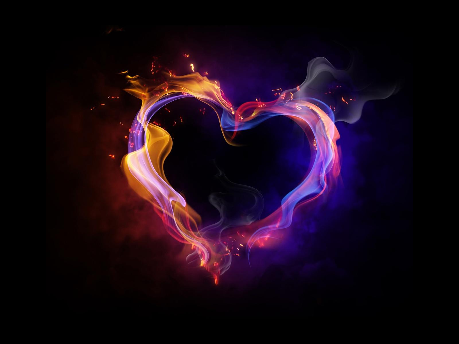 Sfondo Cuore Infuocato Amore Sfondi Hd Gratis