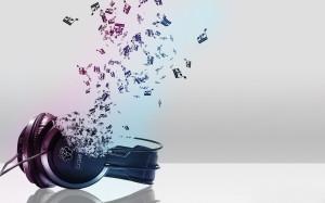Sfondo HD musica - cuffie auricolari