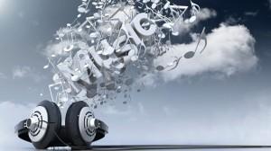 Sfondo HD musica - cuffie auricolari alta definizione