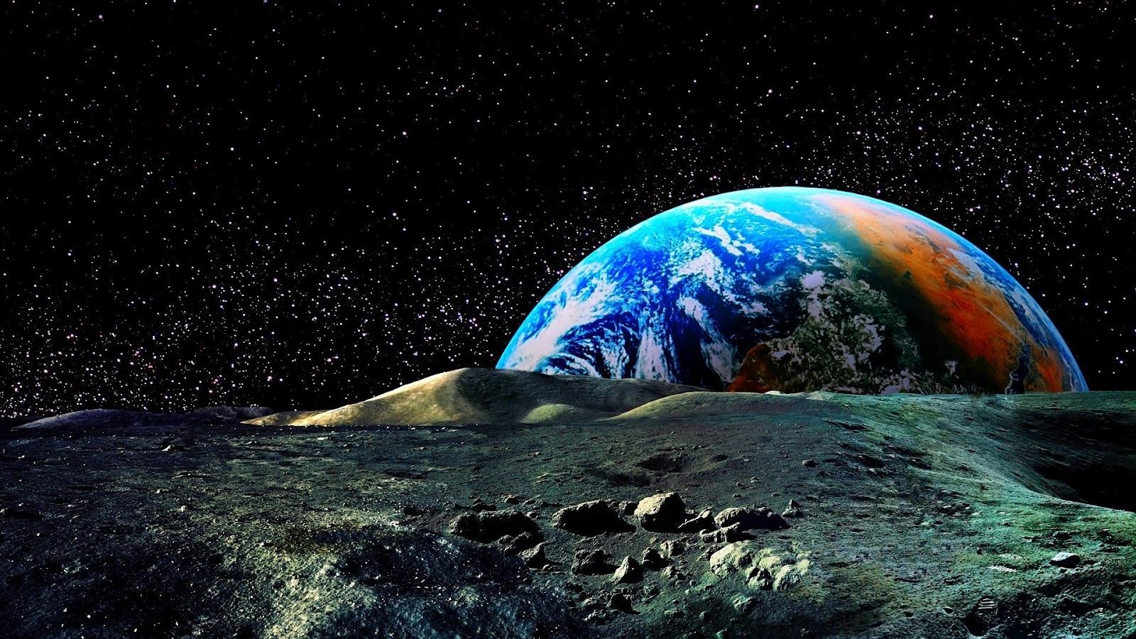 Sfondi Bellissimi Hd Luna E Terra Sfondi Hd Gratis