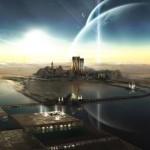 Sfondi HD in 3D per desktop - città del futuro