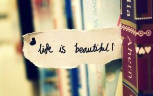 Sfondo HD la vita è bellissima
