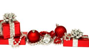 Sfondo Natale pacchi regalo