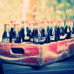 Sfondo retina vintage coca cola