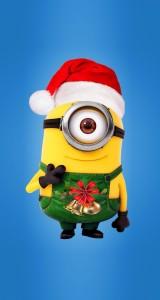 Sfondo-iphone-Natale-Minions