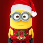 Sfondo-iphone-Natale-Minions-HD