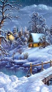 Sfondo iphone Natale e neve