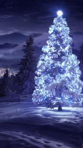 Sfondo iphone Natale neve
