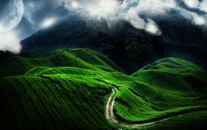 Sfondo natura tra i monti