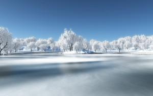 Sfondo paesaggio neve bellissimo