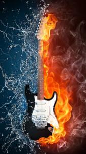 Sfondo retina iphone chitarra