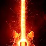 Sfondo retina iphone chitarra elettrica