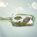 Sfondo vita in bottiglia