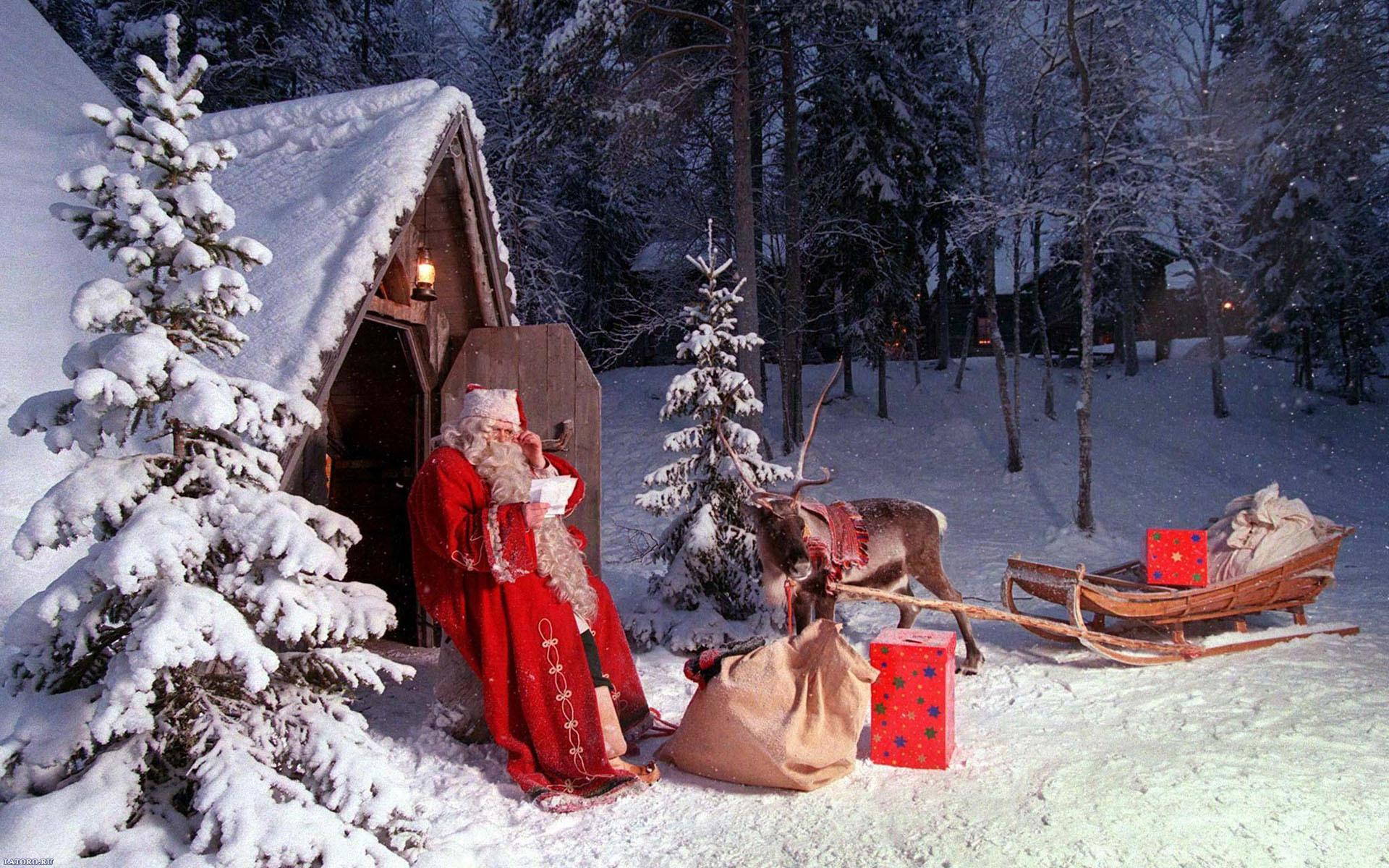 Sfondi Babbo Natale.Sfondo Casa Di Babbo Natale Sfondi Hd Gratis