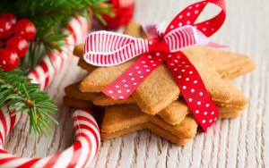 Sfondo dolci e biscotti natale