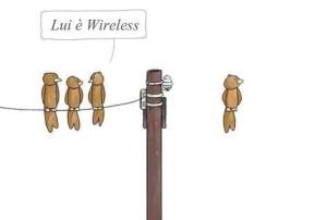 Vignetta divertente sul wireless