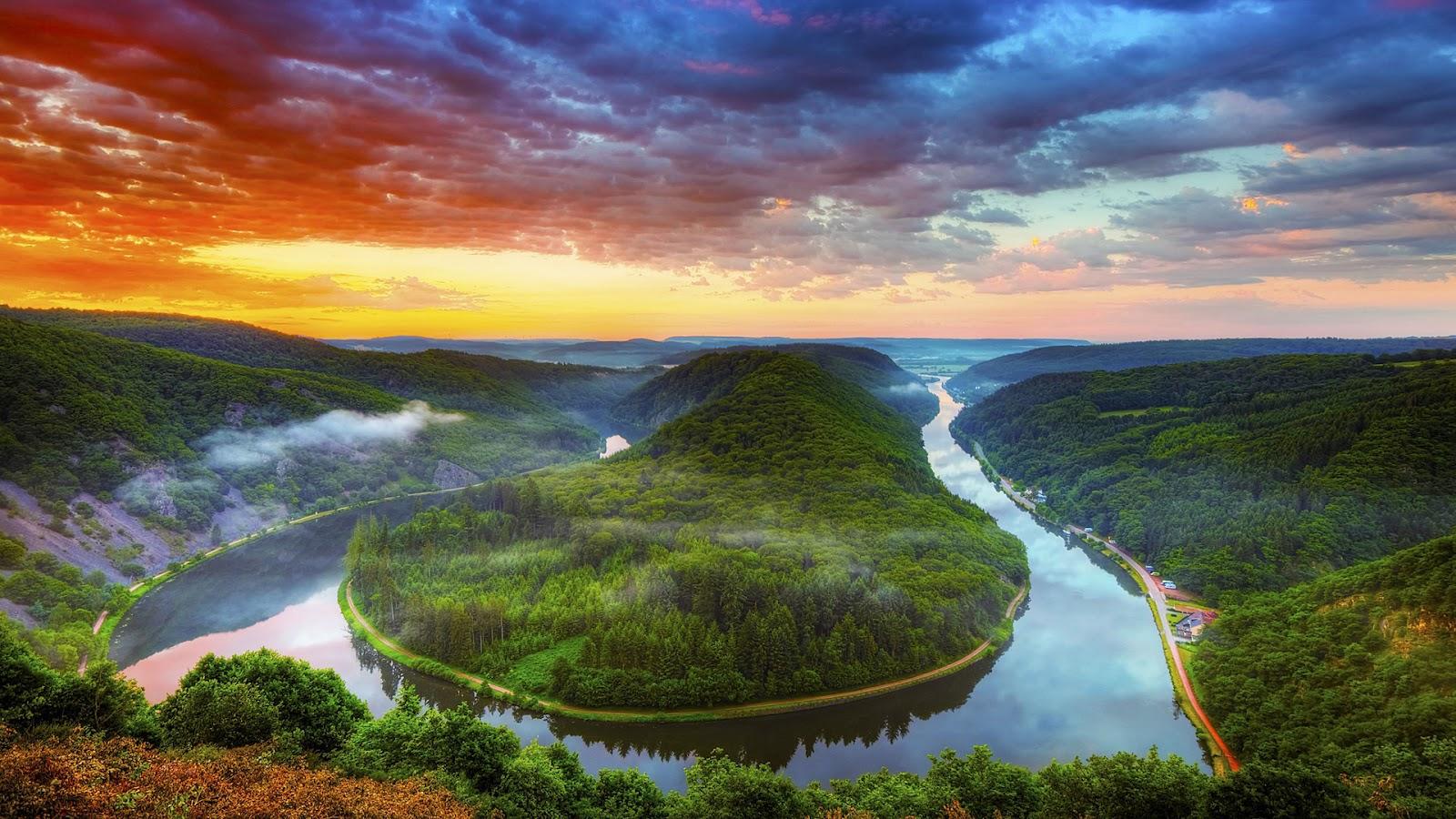 Sfondo hd paesaggio naturale fiume sfondi hd gratis for Sfondi hd natura