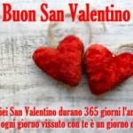 Auguri di San Valentino con dedica romantica