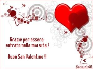 Auguri di San Valentino con frase d'amore
